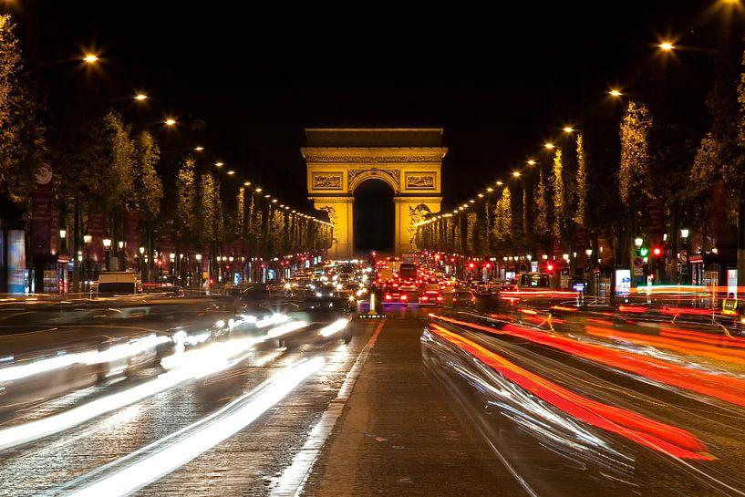 Avenue des Champs-Élysées, Parijs van Arie Storm