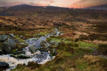 Iers Landschap van Digitale Schilderijen