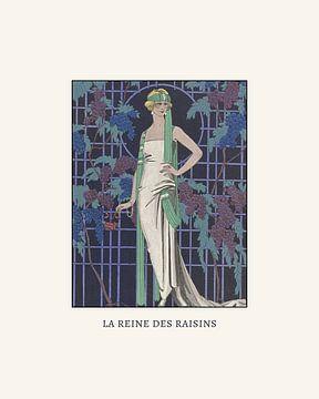 La reine des raisin - Historische Vintage Retro Art Deco 1920s Mode prent van NOONY