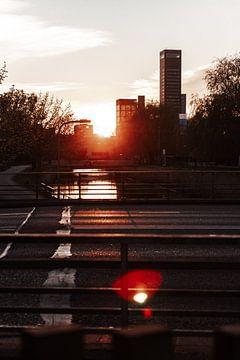 Die Achmeatoren in Leeuwarden bei Sonnenuntergang von Nando Foto