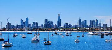 Australië - Melbourne Skyline - Victoria van Maurits Simons
