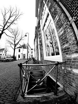 Gouda durch einen extrem weiten Winkel gesehen von F.H. van Dijk