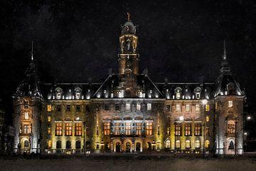 Rathaus von Rotterdam von Digitale Schilderijen