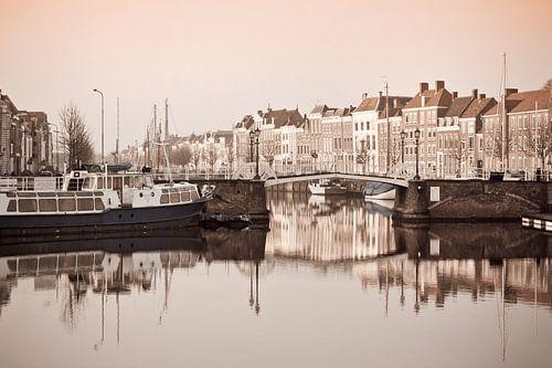 Middelburg in sepia van