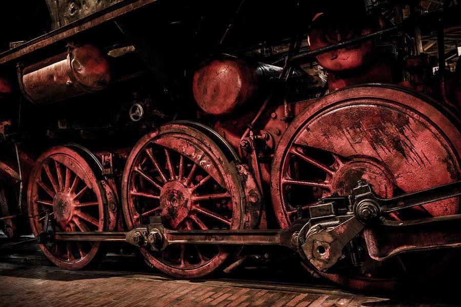 Locomotief in detail van Photobywim Willem Woudenberg