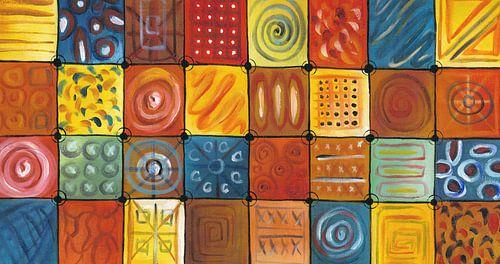 Abstract kleurrijk schilderij | Abstract 848 van
