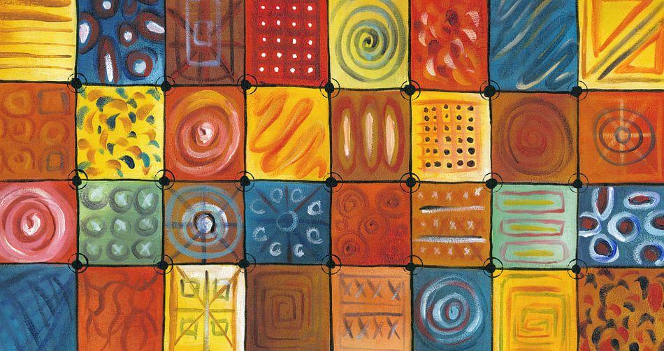 Abstract kleurrijk schilderij | Abstract 848 van Kunst Company