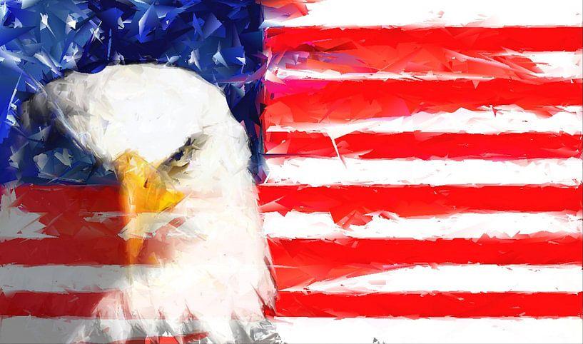 USA Flagge und Adler von Brian Raggatt
