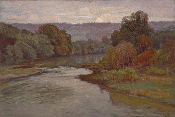 T C. Steele (Amerikaner, 1847-1926)~Der Fluss
