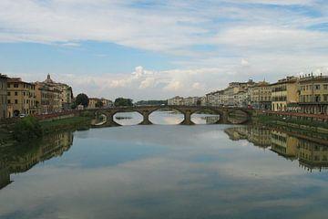 Brücke in Florenz, Italien von Anouk Davidse