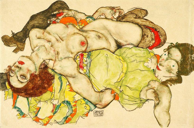 Weibliche Liebhaberinnen von Egon Schiele, 1915 von Atelier Liesjes