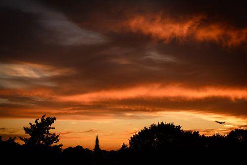 Amersfoortse zonsondergang van