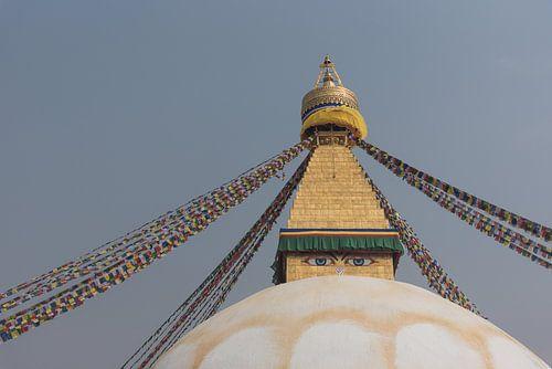 De ogen van de Bouddhanath stoepa in Kathmandu | Nepal