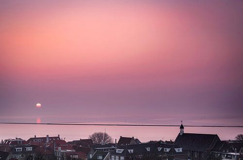 Zonsopkomst bij West-Terschelling, Nederland