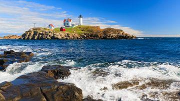 Der Nubble-Leuchtturm, Maine von Henk Meijer Photography