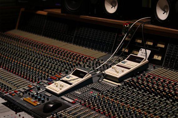 Opname studio met analoge mengtafel