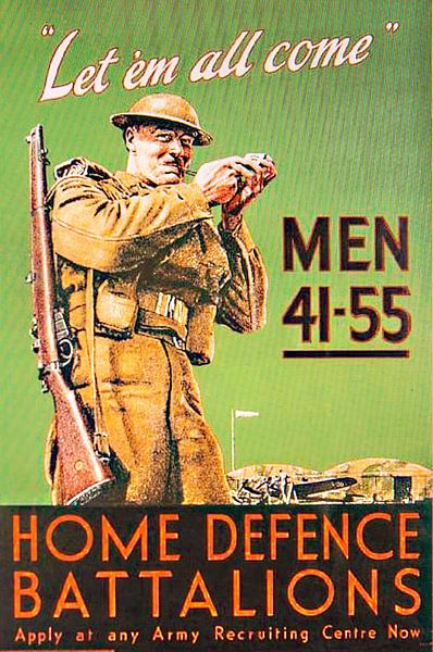 Recruiting poster for the Homeguard van Brian Morgan