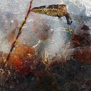IJs op de plas, abstract werk van