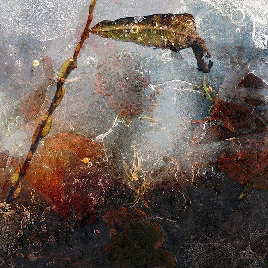 IJs op de plas, abstract werk van Anne Hana