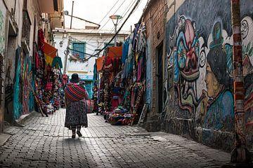 Bolivia straatbeeld van Jelmer Laernoes