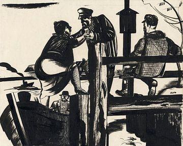 An der Haltestelle, 1929 von Atelier Liesjes