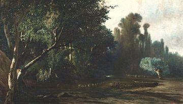 Baldomer Galofre i Giménez~Landschaft mit Enten