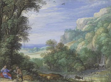 De verzoeking van Christus in de woestijn, Paulus Bril sur