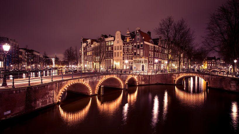 Grachten Amsterdam van Dennis Wierenga