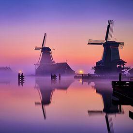 Windmolens op de Zaanse Schans van Peter de Jong