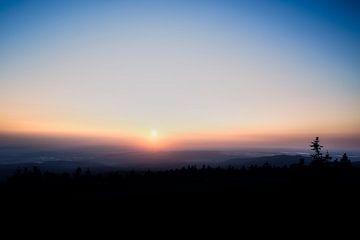 Zonsopgang in het Harzgebergte van Mike Ahrens