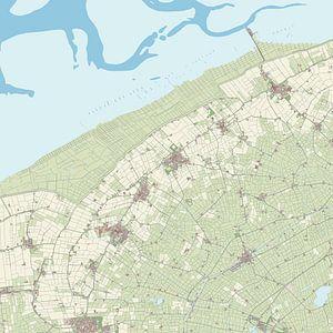 Kaart van Ferweradiel