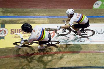 Bradley Wiggins en Mark Cavendish 2 van Leon van Bon