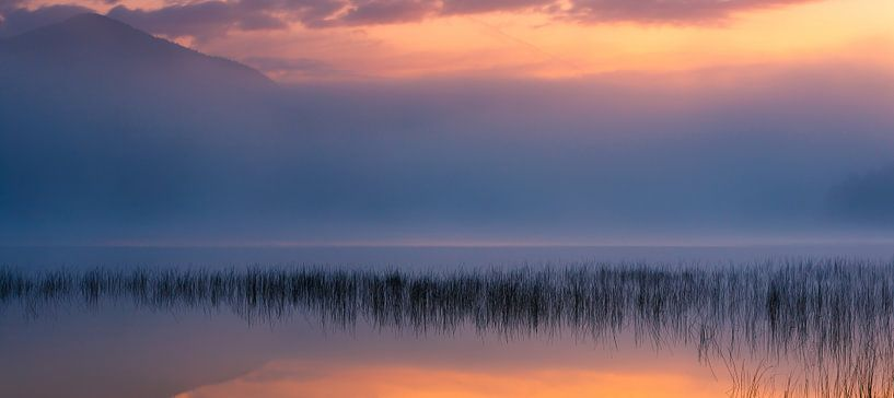 Dawn at Connery Pond, USA van Henk Meijer Photography