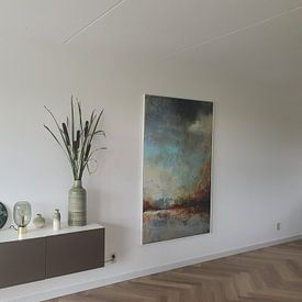 Klantfoto: THE OTHER SIDE van RAR Kramer, op canvas