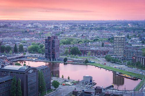 Rotterdam van af de Euromast van