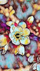 Kirschblüte Ölmalerei von Patricia Piotrak