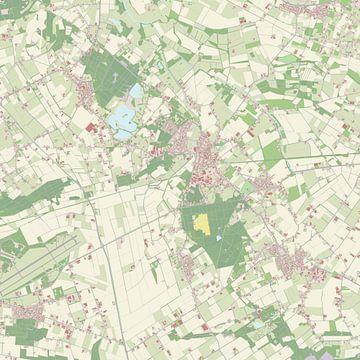 Kaart van Mill en Sint Hubert