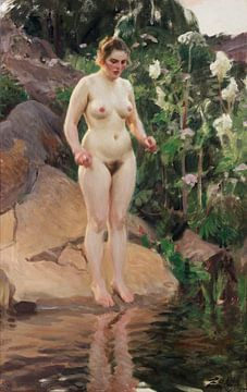 vrouwelijk naakt, archipel Bloem, Anders Zorn - 1916 van Atelier Liesjes