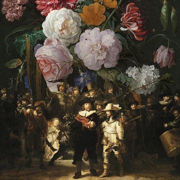 Nachtwacht x Stilleven met Bloemen