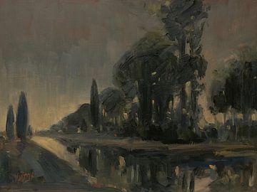 Bäume entlang der Gein von Nop Briex
