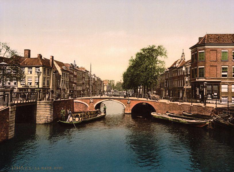 Het Spui, Den Haag. van Vintage Afbeeldingen