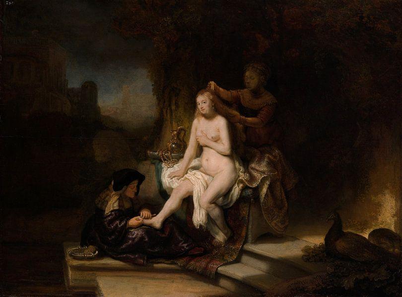 Het toilet van Bathseba, Rembrandt van Rembrandt van Rijn