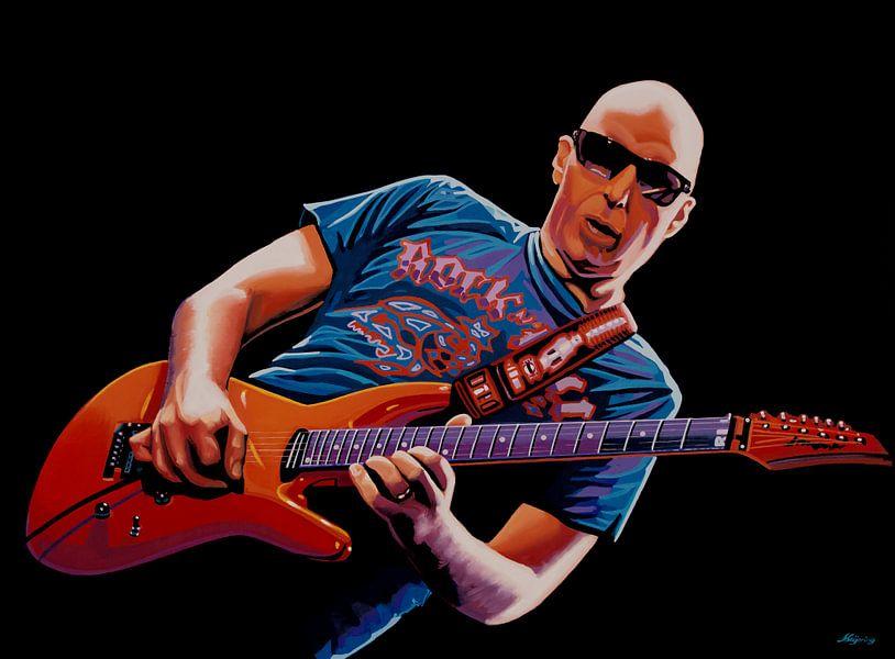 Joe Satriani Schilderij 2 van Paul Meijering