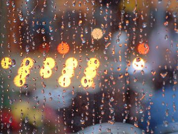 Regenachtige kermis van Ingrid Jansen