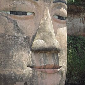gezicht boeddha  van Nicole - Creative like Nomads