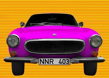 Volvo P1800 in pink & yellow von aRi F. Huber