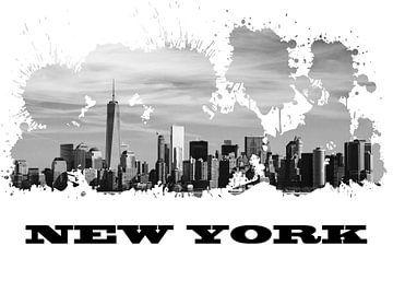 New York van Printed Artings