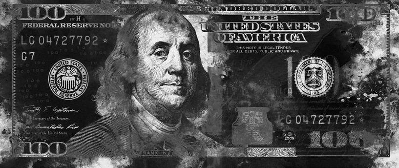 Benjamin Franklin - 100 Dollar van Sharon Harthoorn