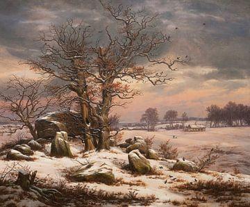 Winterlandschaft bei Vordingborg, Dänemark, Johan Christian Dahl
