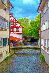 River Blau throught Ulm